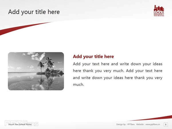 Loyola University New Orleans powerpoint template download | 新奥尔良洛约拉大学 PPT模板下载_slide4