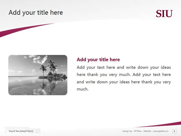 Southern Illinois University-Carbondale powerpoint template download | 南伊利诺斯大学卡本代尔分校PPT模板下载_slide4