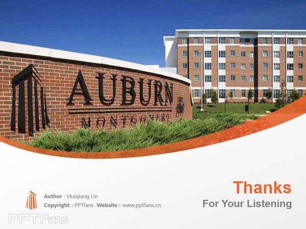 Auburn University at Montgomery powerpoint template download | 奥本大学蒙哥马利分校PPT模板下载_slide18