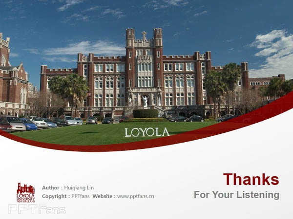 Loyola University New Orleans powerpoint template download | 新奥尔良洛约拉大学 PPT模板下载_slide18
