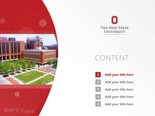 Ohio State University powerpoint template download | 俄亥俄州立大学PPT模板下载_slide1