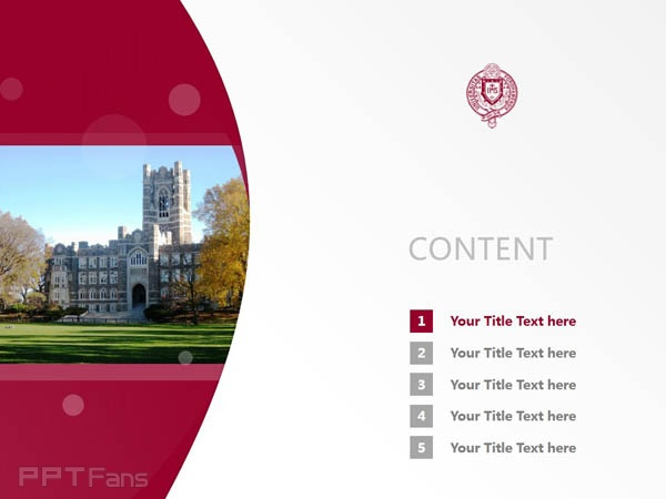 Fordham University powerpoint template download | 福德汉姆大学PPT模板下载_slide1