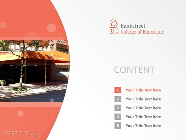 Bank Street College of Education powerpoint template download | 银行街教育学院PPT模板下载_slide2