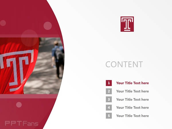 Temple University powerpoint template download | 天普大学PPT模板下载_slide2