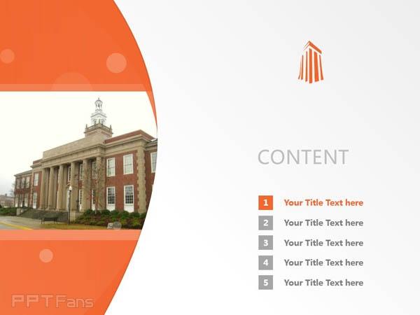 Auburn University at Montgomery powerpoint template download | 奥本大学蒙哥马利分校PPT模板下载_slide2
