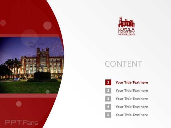 Loyola University New Orleans powerpoint template download | 新奥尔良洛约拉大学 PPT模板下载_slide2