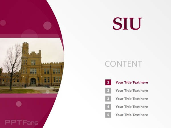 Southern Illinois University-Carbondale powerpoint template download | 南伊利诺斯大学卡本代尔分校PPT模板下载_slide2