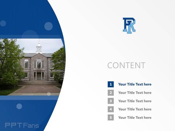 University of Rhode Island powerpoint template download | 罗德岛大学PPT模板下载_slide2