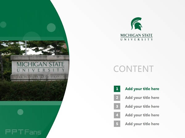 michigan state university powerpoint template download | 密歇根, Presentation templates