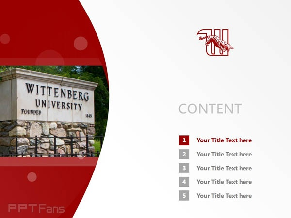 Wittenberg University powerpoint template download | 威腾堡大学PPT模板下载_slide2