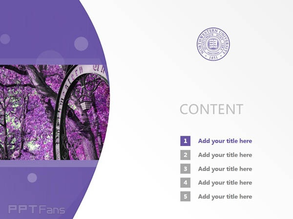 northwestern university powerpoint template download | 西北大学ppt, Presentation templates