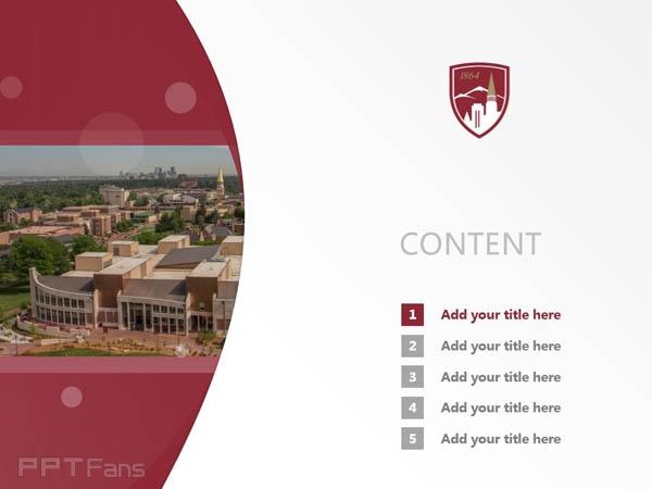 University of Denver powerpoint template download | 丹佛大学PPT模板下载_slide2