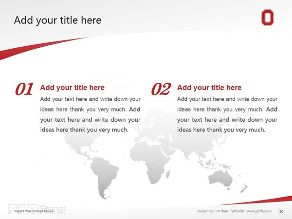 Ohio State University powerpoint template download | 俄亥俄州立大学PPT模板下载_slide10