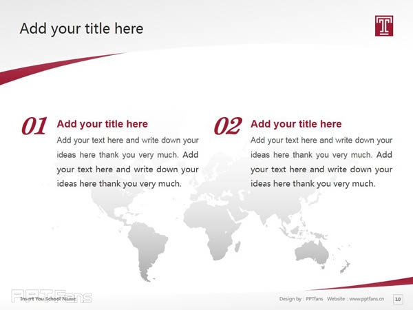 Temple University powerpoint template download | 天普大学PPT模板下载_slide11