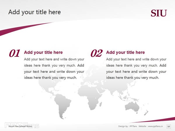 Southern Illinois University-Carbondale powerpoint template download | 南伊利诺斯大学卡本代尔分校PPT模板下载_slide10