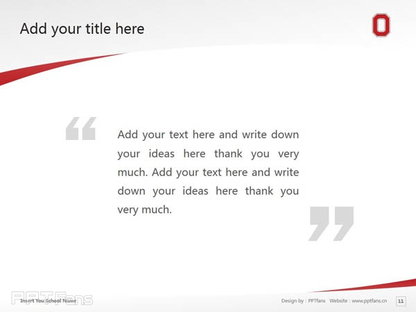 Ohio State University powerpoint template download | 俄亥俄州立大学PPT模板下载_slide11