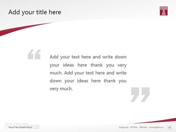 Temple University powerpoint template download | 天普大学PPT模板下载_slide12