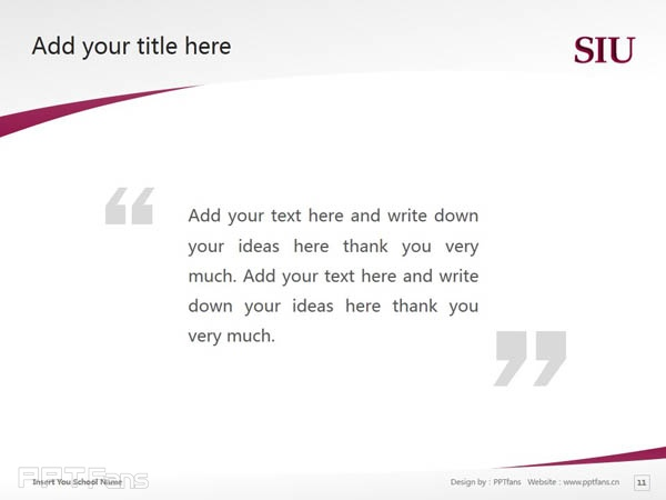 Southern Illinois University-Carbondale powerpoint template download | 南伊利诺斯大学卡本代尔分校PPT模板下载_slide12