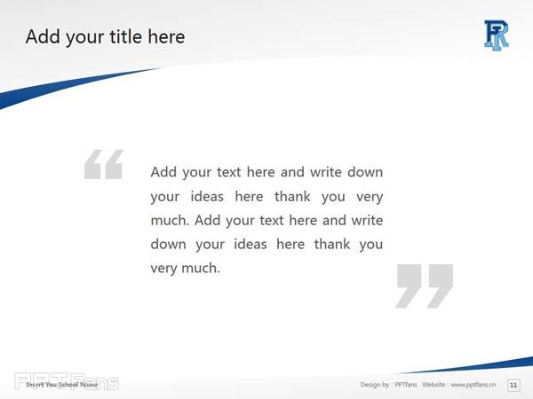 University of Rhode Island powerpoint template download | 罗德岛大学PPT模板下载_slide12