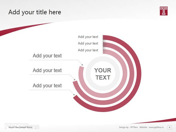 Temple University powerpoint template download | 天普大学PPT模板下载_slide4
