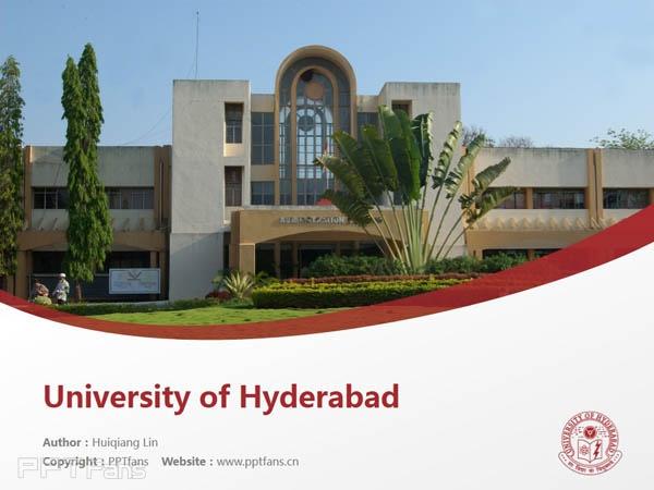University of Hyderabad powerpoint template download | 海得拉巴大学PPT模板下载_幻灯片预览图1