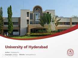 University of Hyderabad powerpoint template download | 海得拉巴大學PPT模板下載