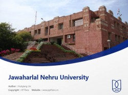 Jawaharlal Nehru University powerpoint template download | 尼赫鲁大学PPT模板下载