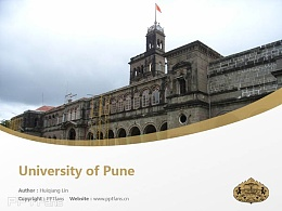University of Pune powerpoint template download | 普納大學PPT模板下載