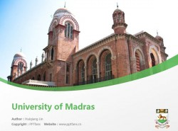 University of Madras powerpoint template download | 马德拉斯大学PPT模板下载
