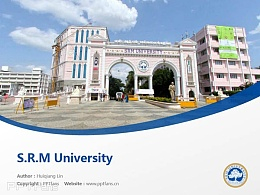 S.R.M University powerpoint template download | 印度SRM大學PPT模板下載