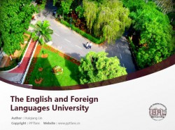 The English and Foreign Languages University powerpoint template download | 印度中央外国语大学PPT模板下载