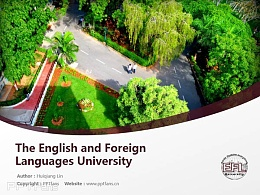 The English and Foreign Languages University powerpoint template download | 印度中央外國語大學PPT模板下載