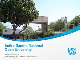 Indira Gandhi National Open University powerpoint template download | 英迪拉·甘地國立開放大學PPT模板下載