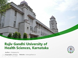Rajiv Gandhi University of Health Sciences, Karnataka powerpoint template download | 拉吉夫甘地医科大学PPT模板下载