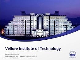Vellore Institute of Technology powerpoint template download | 韦洛尔科技大学PPT模板下载