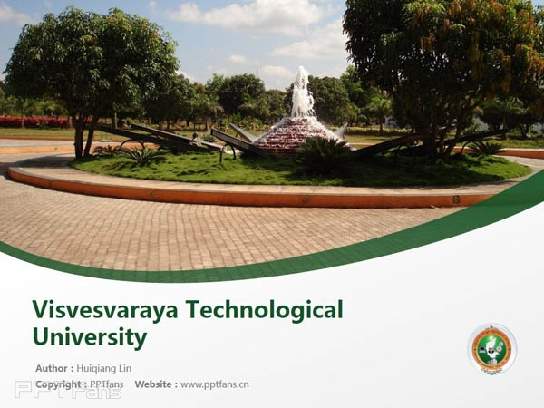 Visvesvaraya Technological University powerpoint template download | 韦斯科技大学PPT模板下载_slide1