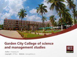 Garden City College of science and management studies powerpoint template download | 班加罗尔大学花园城市学院PPT模板下载