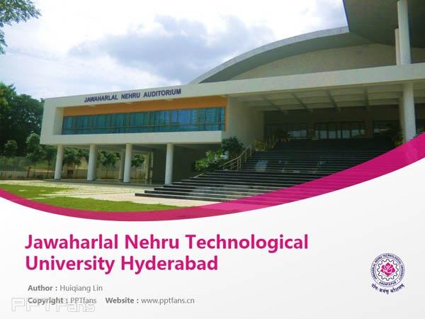 Jawaharlal Nehru Technological University Hyderabad powerpoint template download   尼赫鲁科技大学PPT模板下载_幻灯片预览图1