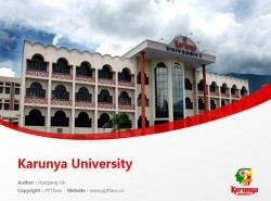 Karunya University powerpoint template download | 卡伦扬大学PPT模板下载