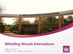 Whistling Woods International powerpoint template download | 印度国际电影学院PPT模板下载