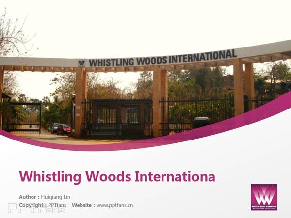 Whistling Woods International powerpoint template download | 印度国际电影学院PPT模板下载_幻灯片预览图1