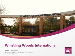 Whistling Woods International powerpoint template download | 印度國際電影學院PPT模板下載