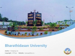 Bharathidasan University powerpoint template download | 巴拉迪大学PPT模板下载