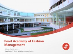 Pearl Academy of Fashion Management powerpoint template download | 珀尔时尚学院PPT模板下载