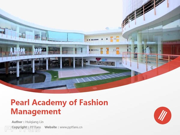 Pearl Academy of Fashion Management powerpoint template download | 珀爾時尚學院PPT模板下載_幻燈片預覽圖1
