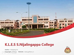 K.L.E.S S.Nijalingappa College powerpoint template download | 班加羅爾大學K.L.E學院PPT模板下載