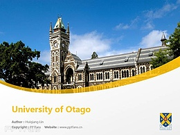 University of Otago powerpoint template download | 奥塔哥大学PPT模板下载