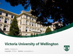 Victoria University of Wellington powerpoint template download | 惠灵顿维多利亚大学PPT模板下载