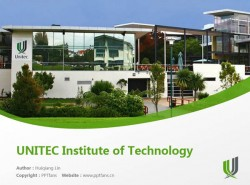 UNITEC Institute of Technology powerpoint template download | 新西兰国立理工学院PPT模板下载