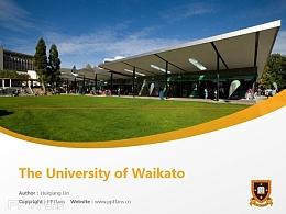 The University of Waikato powerpoint template download | 怀卡托大学PPT模板下载